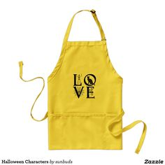 Halloween Characters Adult Apron