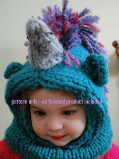 Unicorn Cowl Knitting Pattern