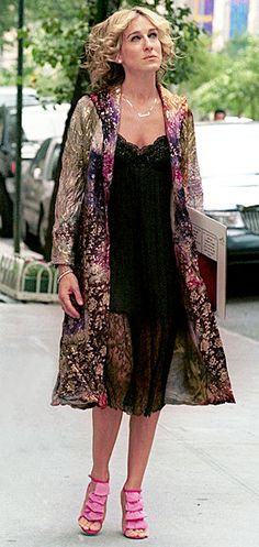 Gold Brocade Sex and the City coat season 4 episode 5 on Sarah Jessica Parker 15% 1 only. $2,000.00, via Etsy.