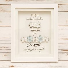 First We Had Each Other Jigsaw Frame - First We Had Each Other Jigsaw Frame Our brand new addition to our Jigsaw range This comes in a choice of Puzzle Piece Crafts, Puzzle Art, Frame Crafts, Puzzle Pieces, Scrabble Crafts, Scrabble Frame, Scrabble Art, Box Frame Art, Box Frames