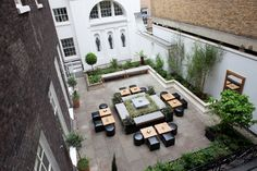 Outside Garden Terrace  A quiet haven in the middle of Central London's bustling West End, our Garden Terrace is a charming and unique space for wedding receptions. http://www.chandoshouse.co.uk/weddings/our-wedding-rooms/outside-garden-terrace  #event #wedding #venue