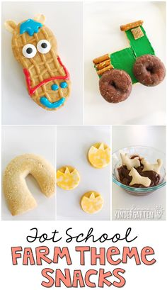 These yummy snacks are perfect for a farm theme in tot school, preschool, or the kindergarten classroom.