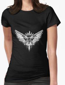 Supernatural demon Hunter white Womens Fitted T-Shirt