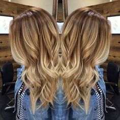 Pin by McKenna Phillips on Hair/makeup in 2019 Blonde Balayage Honey, Sombre Hair, Blonde Hair With Highlights, Full Highlights, Hair Color 2018, Hair Color And Cut, Blinde Hair, Blonde Hair Inspiration, Jessie