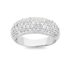 Sterling Silver Swarovski Ring