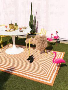 Covoare moderne pentru interior-exterior   Colectia Cleo #covoare #covoaremoderne #covoareexterior #covoareonline Picnic Blanket, Outdoor Blanket, Orange Art, Conservatory, Outdoor Rugs, Modern, Living Spaces, Kids Rugs, Flooring