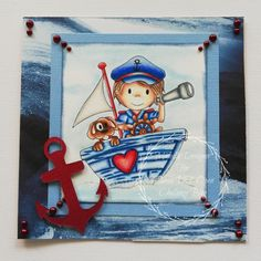 One of our sponsors for April and  our 3rd Birthday challenge this month is The Paper Nest Dolls This image is called Captain Owen