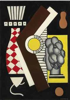 """Painting by Fernand Léger (1881-1955), painted in 1927, """"Nature morte"""",  oil on canvas."""