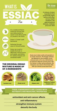 What is Essiac tea - Dr. Axe anti cancer anticarcinogenic fight cancer natural essaic tea