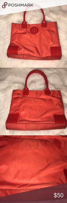 Tory Burch Tote! Cute Tory Burch tote! Some spots on back of purse Tory Burch Bags Totes