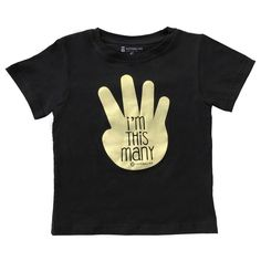 "4th Birthday Shirt ""I'm This Many"" 4 Year Old Bday"