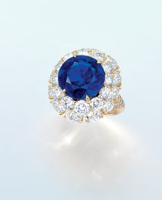 An extremely rare sapphire and diamond ring