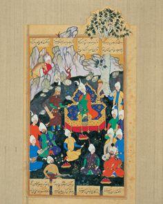 rostam in mount alborz 1564 siavosh morad Shahnameh Esmail