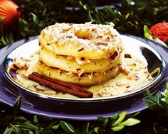 Hot and Cold Seared Apples with Fresh Vanilla