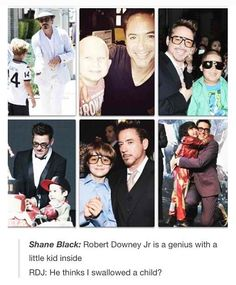 "The Iron Man 3 press tour could have been called ""The Robert Downey Jr. Being Adorable with Children"" press tour"