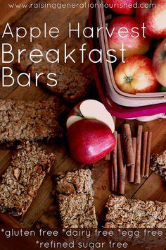 Apple Harvest Breakfast Bars :: Gluten, Egg, Dairy, & Refined Sugar Free
