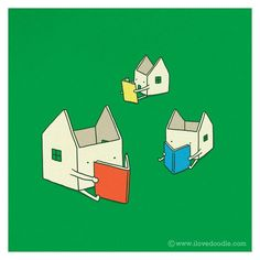 Every house has its own story by the very cute Heng Swee Lim. http://www.flickr.com/photos/ilovedoodle/6516041341/