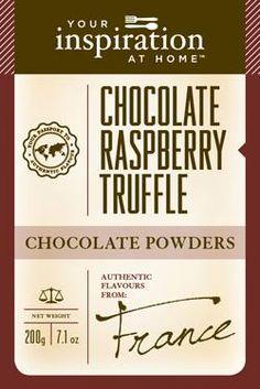 Chocolate Raspberry Truffle Chocolate Powder #yiah #chocolate