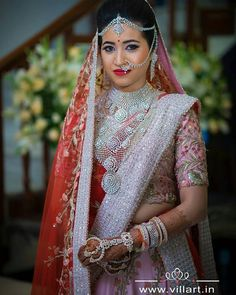 A raani color with some smokey eyes & lots of jewellery is surely making us in LOVE with this bride ! Would you wear… Indian Bridal Fashion, Indian Wedding Jewelry, Indian Jewelry, Bridal Jewellery, Indian Weddings, Bridal Looks, Bridal Style, Pattu Sarees Wedding, Bridal Sarees