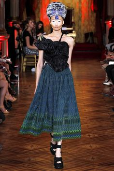 Spring 2013 Ready-to-Wear Vivienne Westwood                                                         just imagine the construction of the top.......