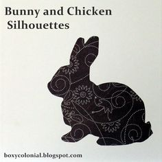 Bunny and Chicken Silhouettes: The Last of the Easter Decorating Extravaganza -