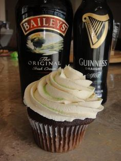 Guinness Cupcakes With Bailey's Frosting. Photo by aimbrulee