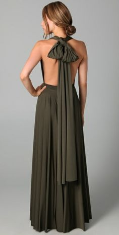 Twobirds | Long Convertible Dress in Green (olive) | Lyst