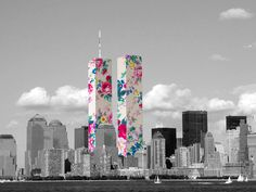 Enchanting Black & White Pictures with Colorful Collages