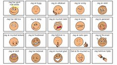 A smiling figure is happy. Tears mean the figure is sad. The symbolism is easy to understand. With the help of the CAT kit, even those who have difficulty communicating can talk about how they feel an Cooperative Learning, Kids Learning, Social Work, Social Skills, Educational Activities, Activities For Kids, Emotions Preschool, Learn Swedish, Kids Planner