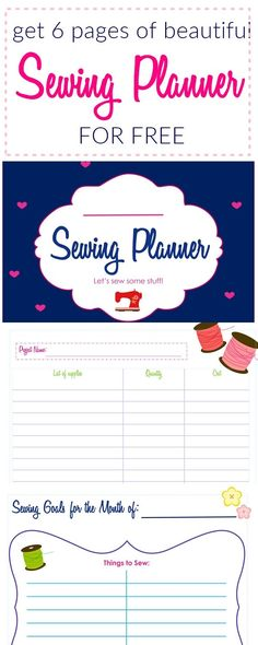 Sew Inspiring Sewing Project Planner (FREE PRINTABLE) | sewing for beginners | sewing planner