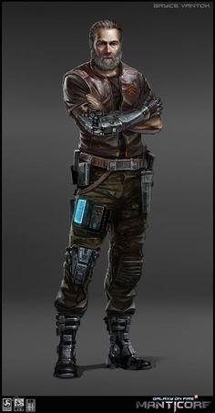 Concept for Cyberpunk bartender. Star Wars Characters, Fantasy Characters, Character Concept, Character Art, Rpg Cyberpunk, Sci Fi Rpg, Manticore, Star Wars Rpg, Post Apocalypse