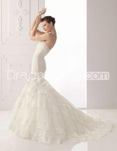 Elegant  Strapless Trumpet/Mermaid Floor-Length Tiered  Wedding Dresses  2012 New Style