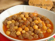 Misket meatballs with chickpeas Visual Recipe - Recipes