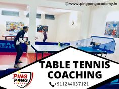 Join PING PONG ACADEMY the top Table Tennis coaching in Gurugram and learn how to play Table Tennis from professional coaches and ranked players. For registration fees and timing call us at Training Academy, Gym Training, Training Tips, T Is For Train, Play Table, Christmas Train, Coaches, Motor Skills, Tennis