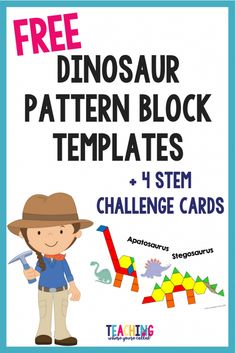 Dinosaur STEM activities, Dinosaur STEAM activities, perfect for preschool or kindergarten What is STEM and why is it an important? This post explains what STEM/STEAM is all about and why it is so important to include it in our children's education. Dinosaur Theme Preschool, Kindergarten Classroom, Kindergarten Activities, Learning Activities, Kids Learning, Steam For Kindergarten, Preschool Education, Learning Spanish, Dinosaur Crafts For Preschoolers