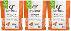 DOGSWELL VITALITY CHICKEN BREAST JERKY TREATS 135 OUNCE  NATURAL RECEIPE HEALTHY  MADE IN USA 3 BAGS *** Check out this great product.
