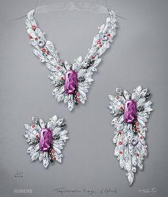 Jewelry Model, Cute Jewelry, Boho Jewelry, Jewelry Art, Wedding Jewelry, Handmade Jewelry, Jewellery Sketches, Jewelry Sketch, 3d Mode