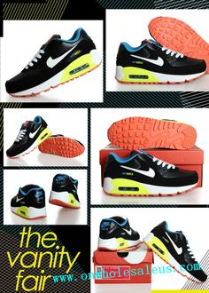 pretty nice 7cfcf 88879 2014 cheap nike air max 90 mens Women sBlack and white yellow for sale  39  size us5.5-us12