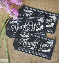 Make Your Wedding Favors Pop With These Free Tags: Chalkboard Printable Wedding Favor Tags at The Elli Blog