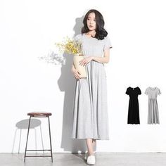 Buy 'LULUS – Short-Sleeve Drawstring Maxi Dress' with Free Shipping at YesStyle.com.au. Browse and shop for thousands of Asian fashion items from Taiwan and more!