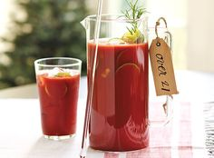 Southern Living Recipes | How To Decorate - Virgin Bloody Mary - just leave out the vodka - Yum