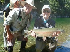 What a catch! Another happy Seasonz client at Poronui with Fly Fishing guide Grant Petherick! #NewZealand #Luxury #Travel