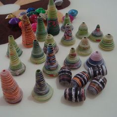 bell shaped paper beads I was a bit disappointed when I found out there wasn't a pattern.