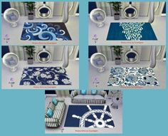 OCEAN rugs by Guardgian at Khany Sims via Sims 4 Updates