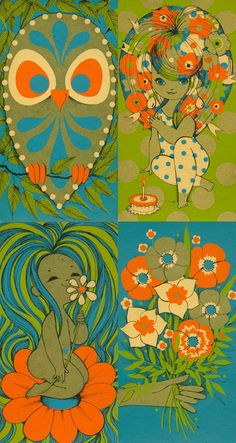In honor of Fawn joining Pinterest....this is a cool scan from her collection. I love these colors!