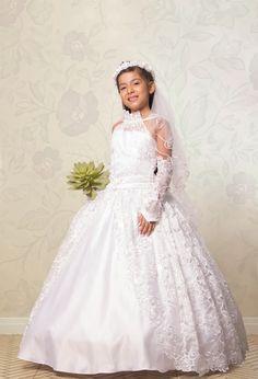 Vestidos de primera comunion para nina con velo