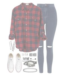 """""""//CatchFire//"""" by alex-bows ❤ liked on Polyvore featuring Topshop, Converse, Witchery, Luv Aj and BOBBY"""