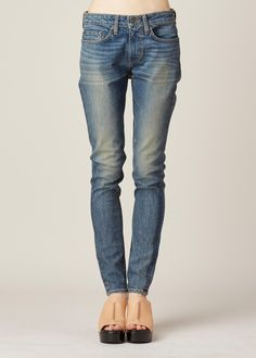 $295 NEW 6397 The News - Loose Skinny Jeans in Thriftstore Blue ...