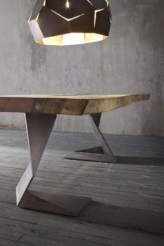 Solid wood table trog by elite to be- Tisch aus massivem Holz TROG By ELITE TO BE Solid wood table Modern living style - Steel Furniture, Table Furniture, Furniture Design, Furniture Plans, System Furniture, Furniture Buyers, Outdoor Furniture, Solid Wood Furniture, Furniture Outlet
