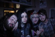 "Me, Dom and josh from theFALLEN (now ""the family ruin"") With one of the sworn to oath guys out drinking  in York on my 26th birthday"